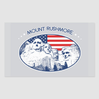 Sticker. T-shirt. Mount Rushmore, the USA America Sticker