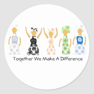 Sticker Together We Make A Difference