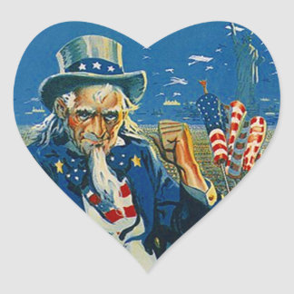 Sticker Uncle Sam Heart USA Patriotic 4th of July