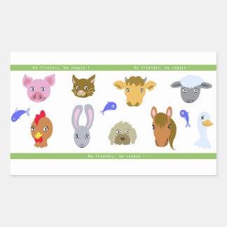 Sticker vegan: portraits of animals