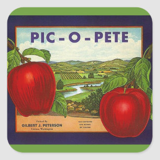 Sticker Vintage Advertising Pic-O-Pete Pete Apples
