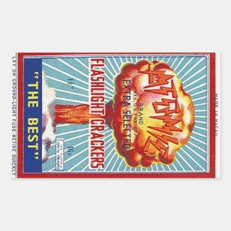 Sticker Vintage Atomic Flashlight Firecrackers Ad