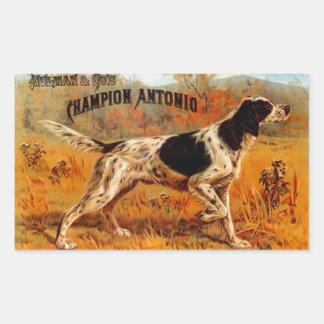 Sticker Vintage Cigar Ad Hunting Bird Dog Champion