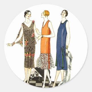 Sticker Vintage Fashion Ladies Flapper Shift Dress