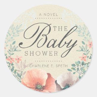 STICKER | Vintage Floral Storybook Baby Shower
