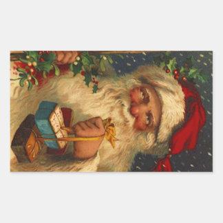 Sticker Vintage Forest Christmas Santa Woodland