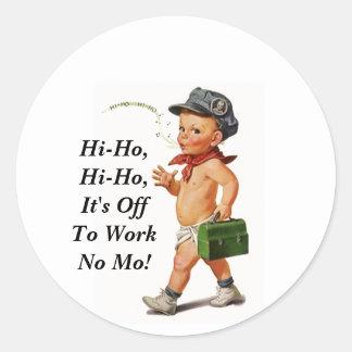 Sticker Vintage Retirement Hi-Ho Work Whistler