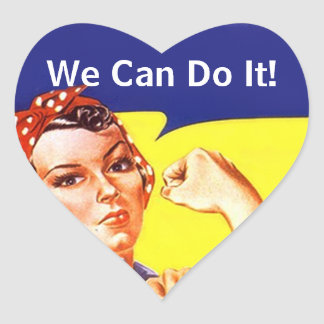 Sticker Vintage Rosie The Riveter We Can Do It!