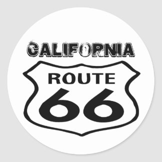 Sticker Vintage Route 66 Worn Lk State California