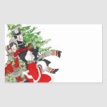 Sticker Vintage Victorian Christmas Tree Tradition