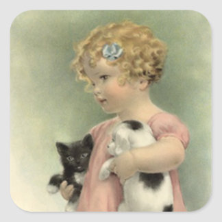 Sticker Vintage Victorian Strays Animal Rescue Cat