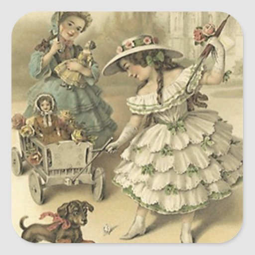 Sticker Vintage Victorian Trip Pet & Dolls Fashion