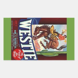Sticker Vintage Westie Fruit Advertising Bronco