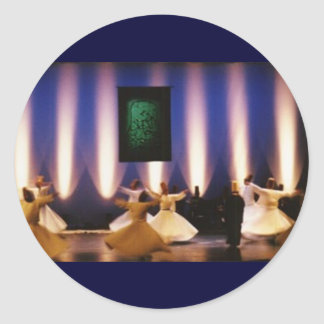 sticker whirling dervish turkish spiritual islam r
