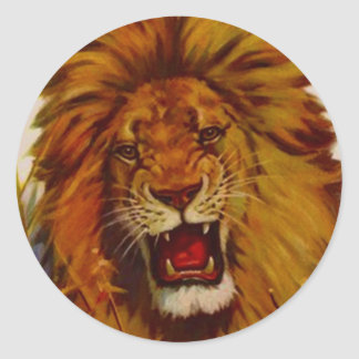 Sticker Wildlife Lion Growls Snarls Roaring Mascot