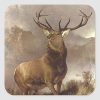 Sticker Wildlife Majestic Bull Elk Mountain Storm