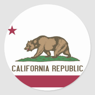 Sticker with Flag of California
