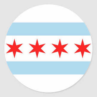 Sticker with Flag of Chicago, Illinois