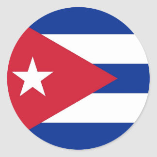 Sticker with Flag of Cuba
