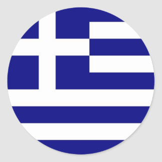 Sticker with Flag of Greece