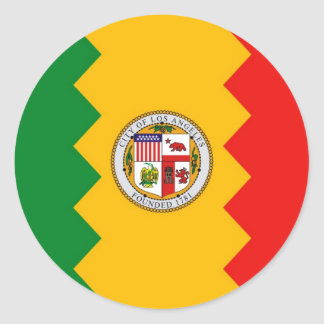 Sticker with Flag of Los Angeles, California