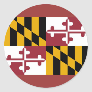 Sticker with Flag of Maryland