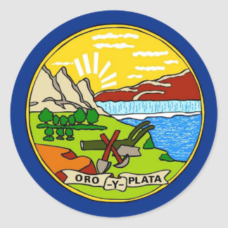 Sticker with Flag of Montana