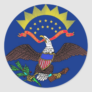 Sticker with Flag of North Dakota