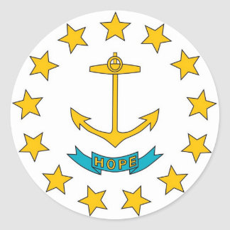 Sticker with Flag of Rhode Island