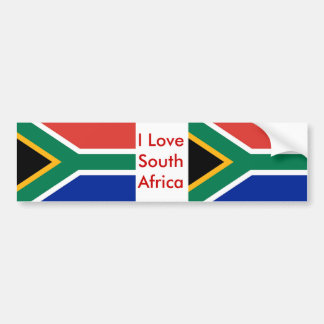 Sticker with Flag of South Africa Bumper Sticker