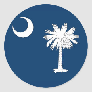 Sticker with Flag of South Carolina