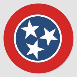 Sticker with Flag of Tennessee
