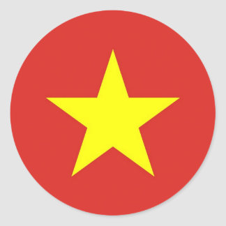 Sticker with Flag of Vietnam