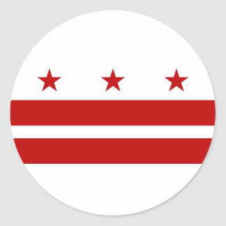 Sticker with Flag of Washington DC