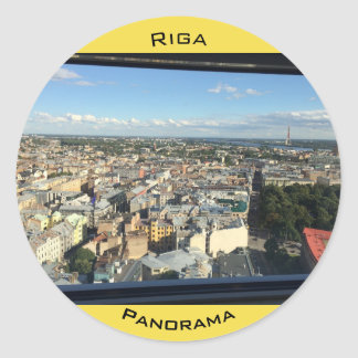 Sticker with Riga Panorama