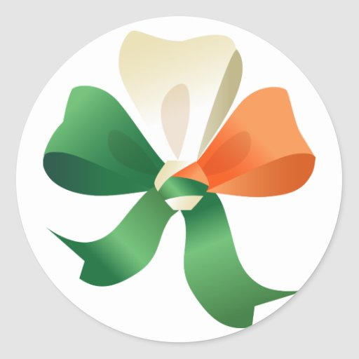 Sticker  with St. Patrick's  bow