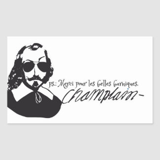 Sticker x20 Samuel Champlain Hipster glasses