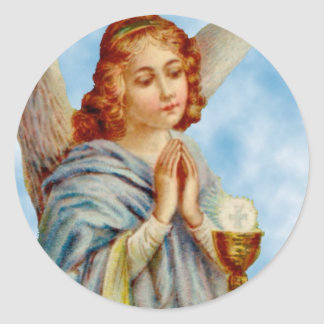 Stickers: Angel Ponders Classic Round Sticker