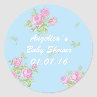 stickers baby to shower for girl vintage pink/blue