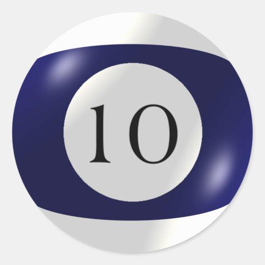 Stickers - Billiards - 10 Ball