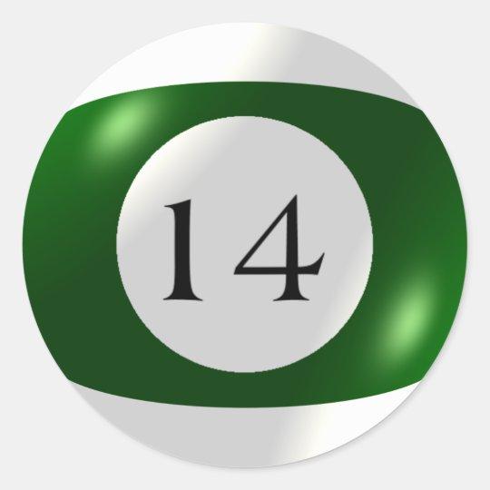 Stickers - Billiards - 14 Ball