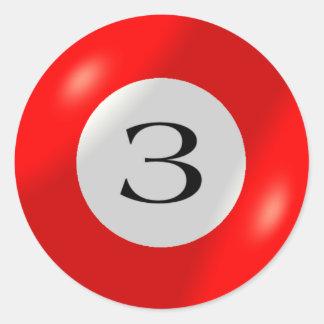 Stickers - Billiards - 3 Ball