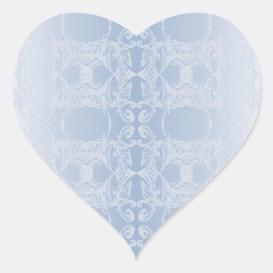 stickers blue heart