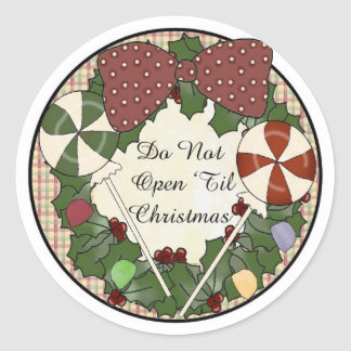 Stickers Christmas Gift Tag-Do Not open until..