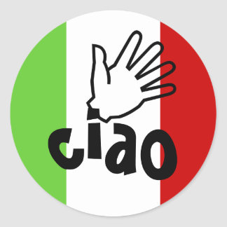 Stickers ciao w/ hand wave Letter Envelope Seals