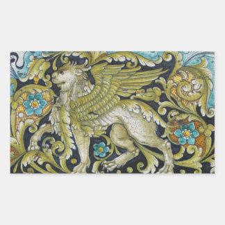 Stickers--Deruta Tile Lion Sticker