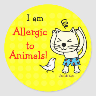 Stickers for Animal Allergy