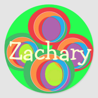 stickers for name Zachary