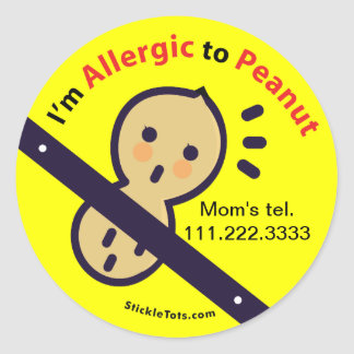 Stickers for Peanut Allergy