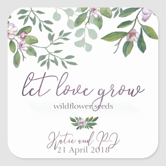 Stickers for Wildflower Favours